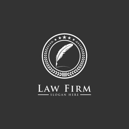 Modello di affari di progettazione di simbolo dello studio legale. Vettoriali