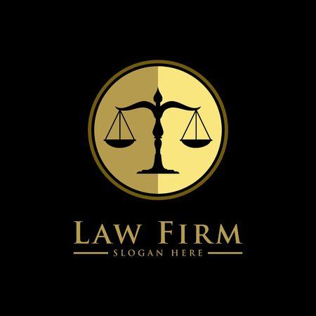 Szablon biznesowy symbol firmy prawniczej.