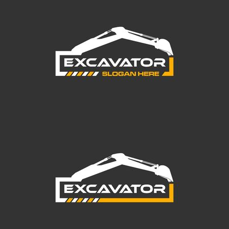 Excavator icon image illustration  イラスト・ベクター素材