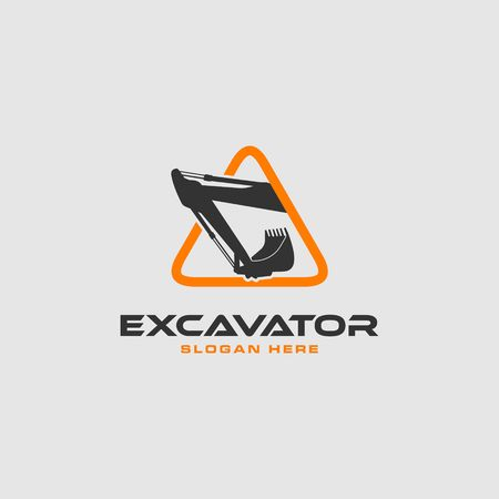 Excavator icon image illustration Illustration
