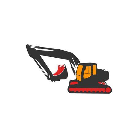 Excavator icon image illustration Banco de Imagens - 98410248