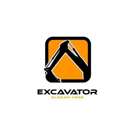 Excavator icon image illustration Vettoriali