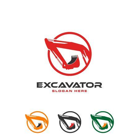 Excavator icon image illustration Vectores