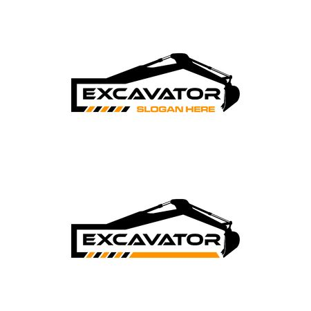 Excavator Vector icon Template. construction, vector illustration