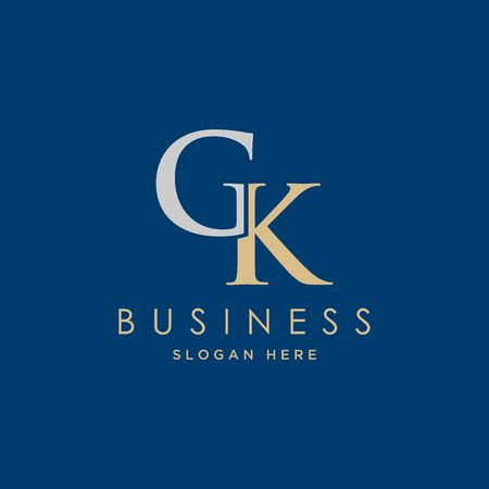Abstract letter GK icon illustration Ilustração