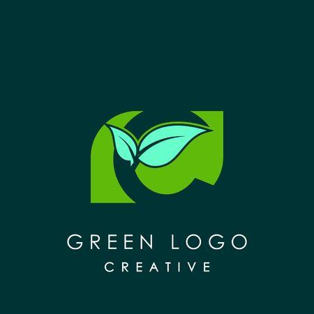 Nature design letter C image illustration