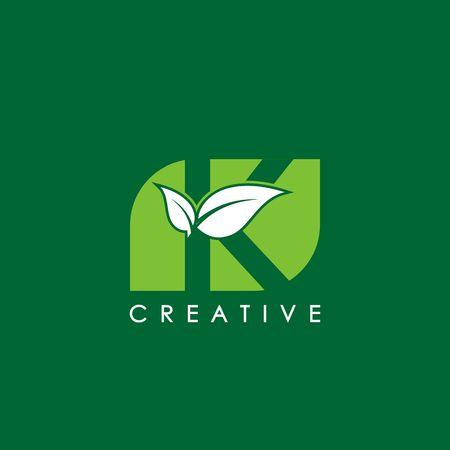 Nature design letter K image illustration