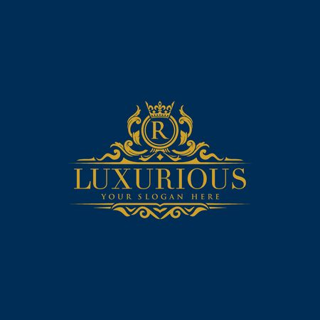 luxury brand, Real Estate, crest logo,crests,crown,royal, fashion,hotel logo,boutique brand,vector logo template