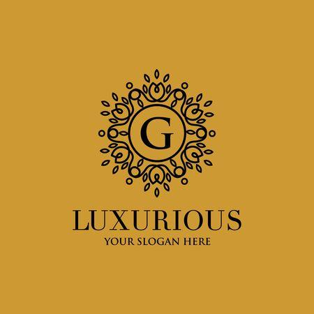 G letter luxurious logo vector illustration