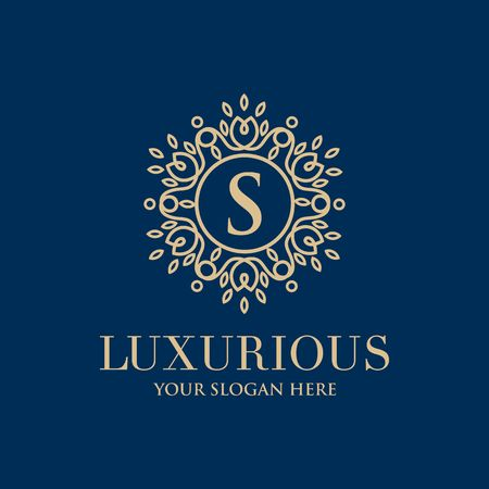 Luxury brand, Real Estate, crest icon. Vector icom template design.