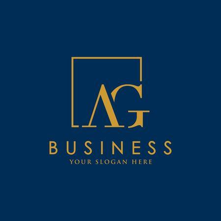 Luxury brand, Real Estate, crest icon. Golden vector icon design template letter. Ilustração