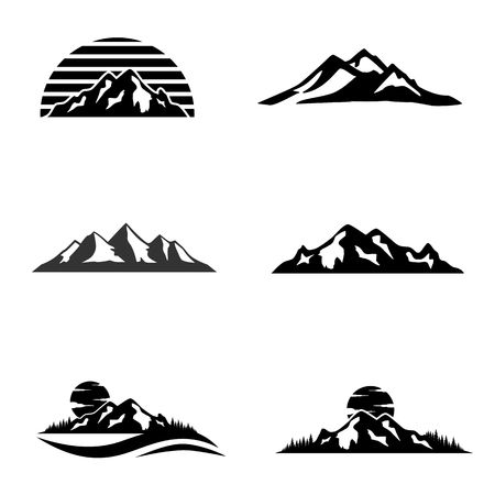 Mountain icon image illustration