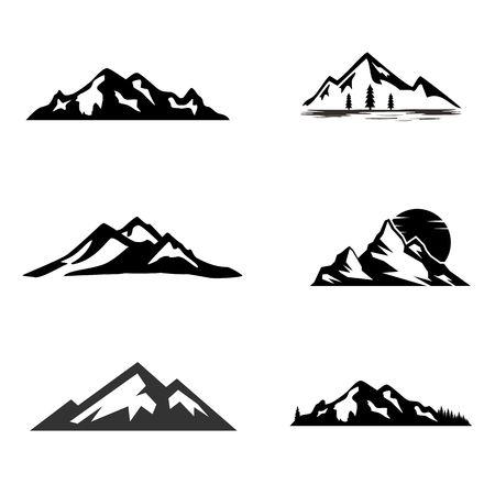 Mountain icon image illustration