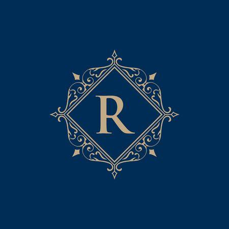 書道文字 R イラストとのロイヤリティボーダー 写真素材 - 98412354