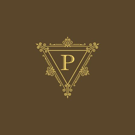 Luxury brand, Real Estate, crest icon. Vector icon template. Imagens - 97945301