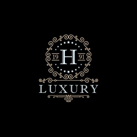 Luxury brand, Real Estate, crest icon. Vector icon template. Imagens - 97945302