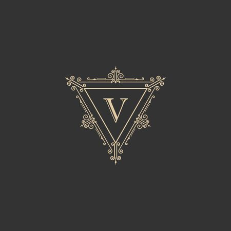 Luxury brand, Real Estate, crest icon. Vector icon template. Imagens - 97945299