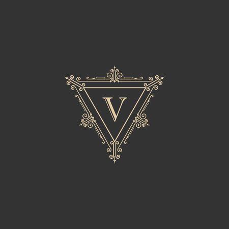 Luxury brand, Real Estate, crest icon. Vector icon template. Ilustração