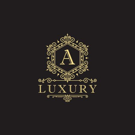 Luxury brand, Real Estate, crest icon. Vector icon template. Imagens - 97945306