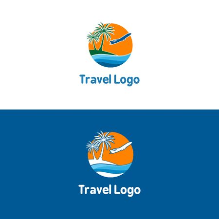 Boat travel, island, beach icon vector illustration.  イラスト・ベクター素材