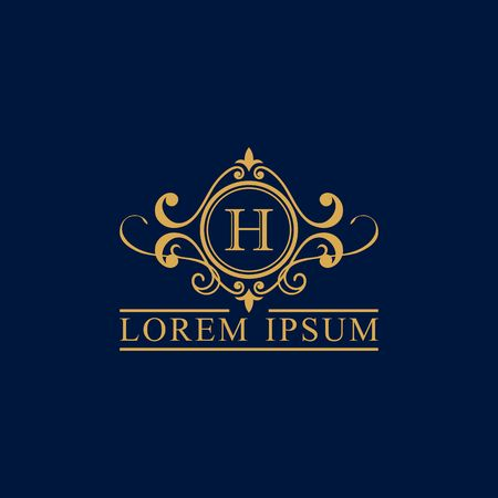 Luxury brand, Real Estate, crest icon. Vector icon template.  イラスト・ベクター素材