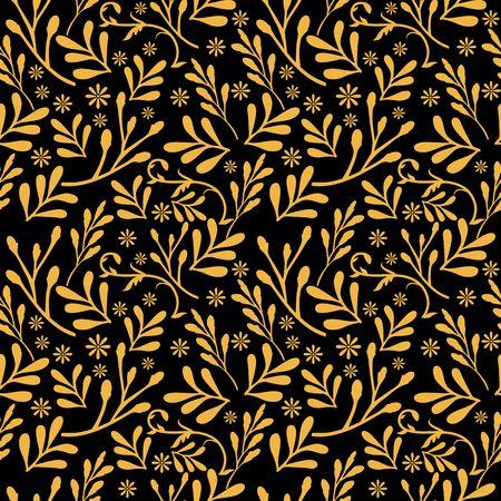 Yellow gold leaf pattern image illustration