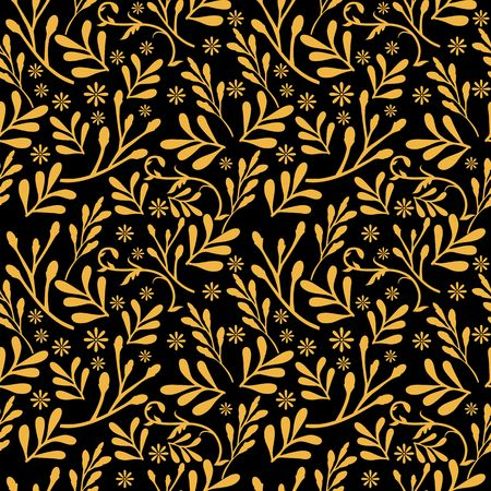 Yellow gold leaf pattern image illustration