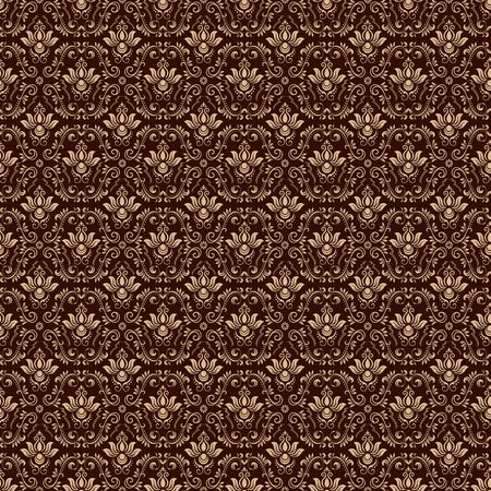 Vintage ornamental background, vector lace texture, seamless floral pattern. Imagens - 97945911