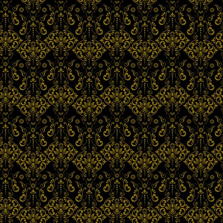 Vintage ornamental background, vector lace texture, seamless floral pattern. Imagens - 97945912