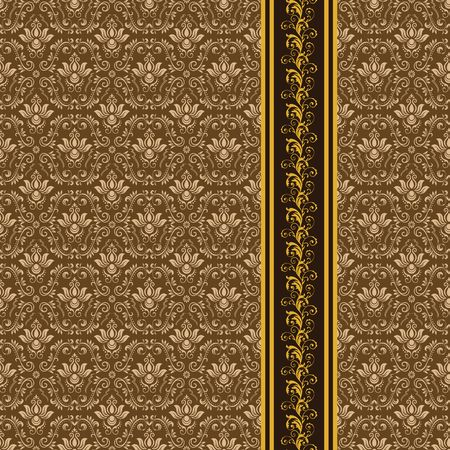 Vintage ornamental background, vector lace texture, seamless floral pattern. Imagens - 97945914