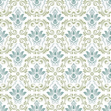 Vintage ornamental background, vector lace texture, seamless floral pattern. Imagens - 97945915