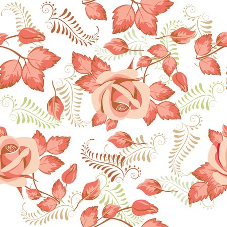 Seamless floral pattern for design, vector Illustration.