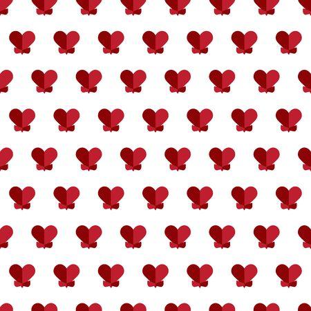 Abstract love geometric seamless pattern illustration. Ilustração