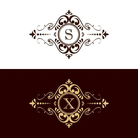 Luxury brand, Real Estate, crest icon. Vector icon template. Imagens - 97945920