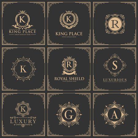 Luxury royalty design icon illustration Ilustração