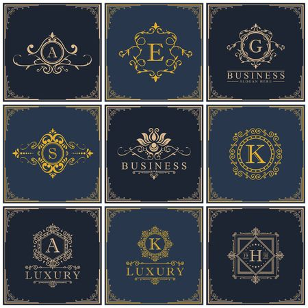 Luxury royalty design icon illustration Ilustração