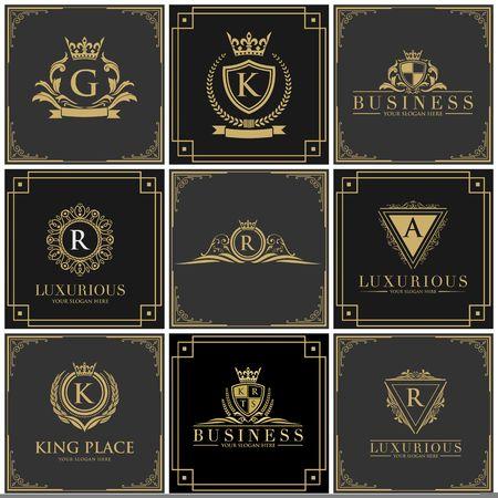 Ilustración de icono de diseño de realeza de lujo Foto de archivo - 98413511