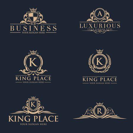 Luxury royalty design icon illustration Illustration