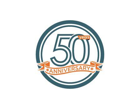 50 years anniversary icon illustration
