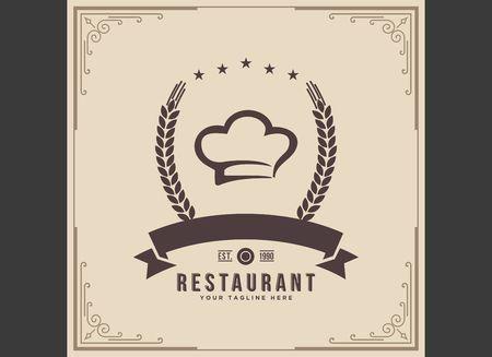 Restaurant icon illustration Illustration