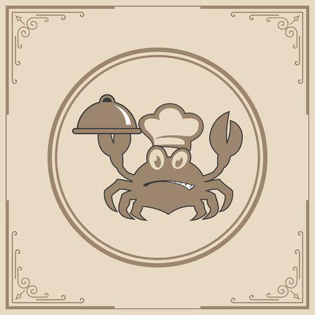 Seafood restaurant icon illustration Illustration