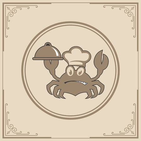 Seafood restaurant icon illustration Banco de Imagens - 98414309