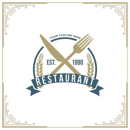 Seafood restaurant icon illustration Ilustração