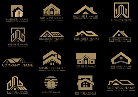Real estate building icons image illustration Imagens - 98423821
