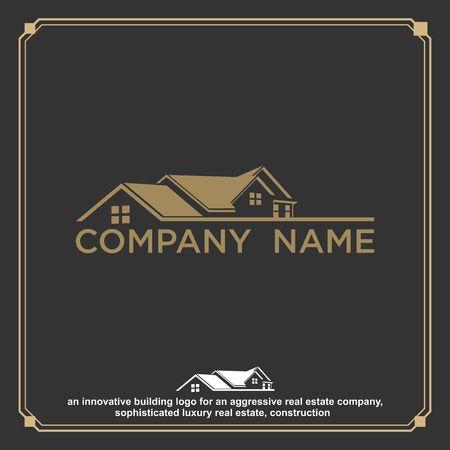 Luxury Real Estate, Building and Construction Logo Vector Design 矢量图像