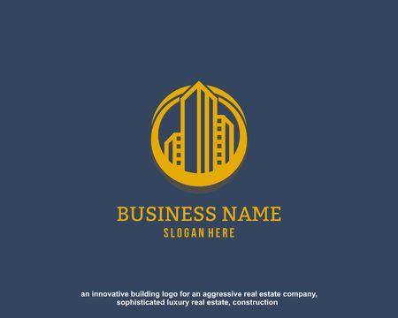 Luxury Real Estate, Building and Construction Logo Vector Design Ilustração