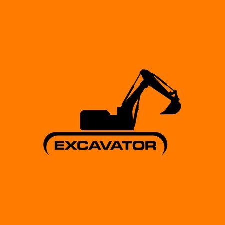 Excavator Vector Logo Template. Vettoriali