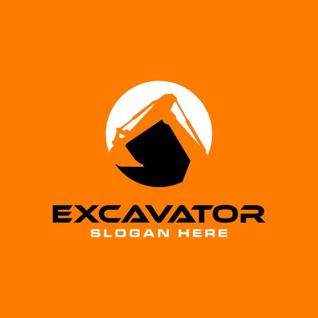 Excavator Vector Logo Template. Ilustração