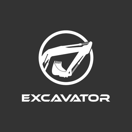 Excavator Vector Logo Template. Illustration