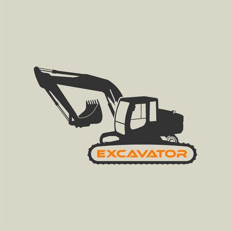 Excavator Vector Icon Template.